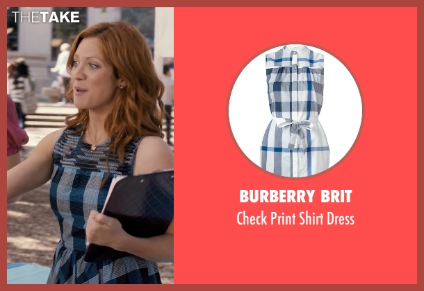 Burberry Brit blue dress from Pitch Perfect seen with Brittany Snow (Chloe)