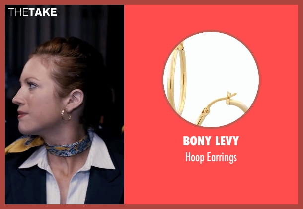 Bony Levy gold earrings from Pitch Perfect seen with Brittany Snow (Chloe)