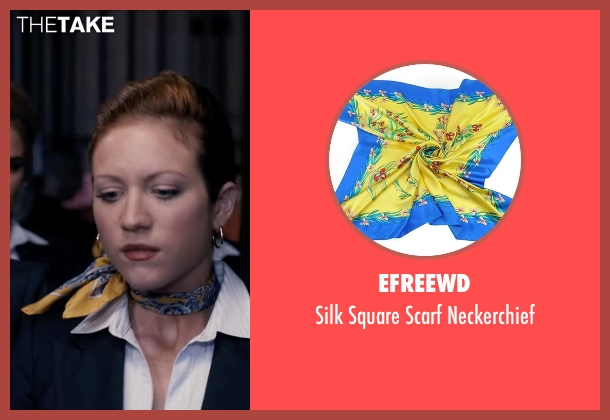 Efreewd yellow neckerchief from Pitch Perfect seen with Brittany Snow (Chloe)