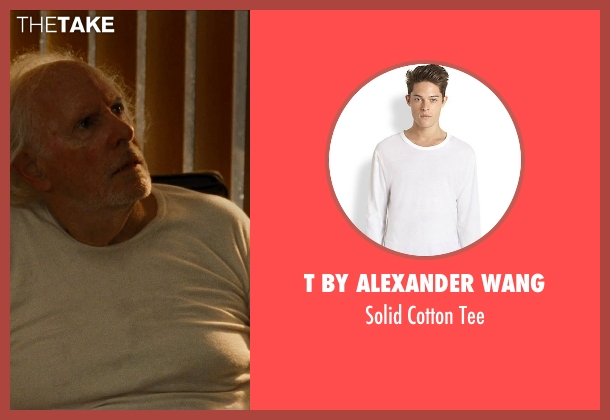 T by Alexander Wang white tee from Cut Bank seen with Bruce Dern (Georgie Wits)