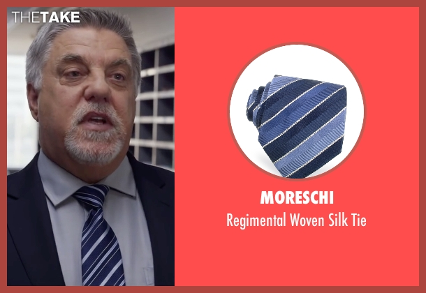 Moreschi blue tie from Ride Along 2 seen with Bruce McGill (Lt. Brooks)