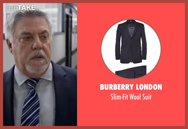 Burberry London suit from Ride Along 2 seen with Bruce McGill (Lt. Brooks)