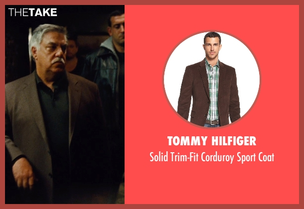 Tommy Hilfiger brown coat from Run All Night seen with Bruce McGill (Pat Mullen)