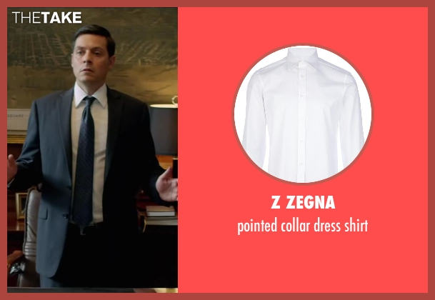 Z ZEGNA white shirt from Brick Mansions seen with Bruce Ramsay (Mayor)