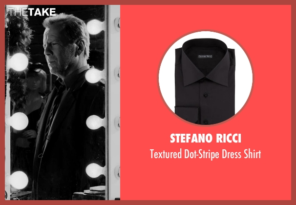 Stefano Ricci black shirt from Frank Miller's Sin City: A Dame To Kill For seen with Bruce Willis (John Hartigan)