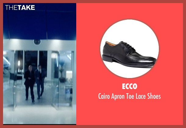 Ecco black shoes from Vice seen with Bruce Willis (Julian Michaels)