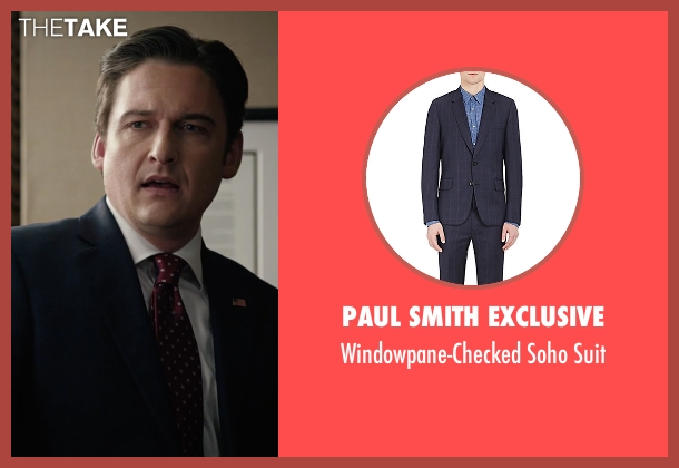 Paul Smith Exclusive blue suit from Billions seen with Bryan Connerty (Toby Leonard Moore)