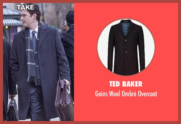Ted Baker gray overcoat from Billions seen with Bryan Connerty (Toby Leonard Moore)