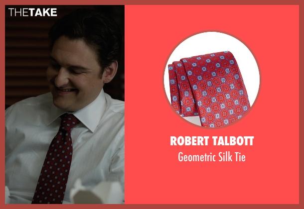 Robert Talbott red tie from Billions seen with Bryan Connerty (Toby Leonard Moore)