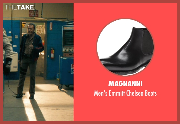 Magnanni black boots from Drive seen with Bryan Cranston (Shannon)
