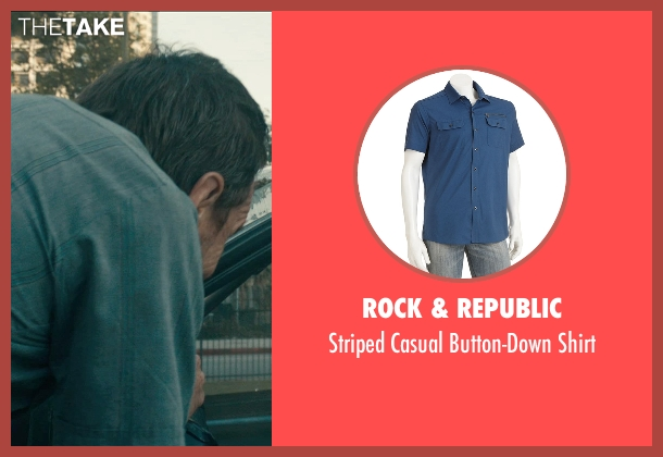 Rock & Republic blue shirt from Drive seen with Bryan Cranston (Shannon)