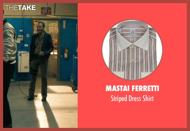 Mastai Ferretti brown shirt from Drive seen with Bryan Cranston (Shannon)