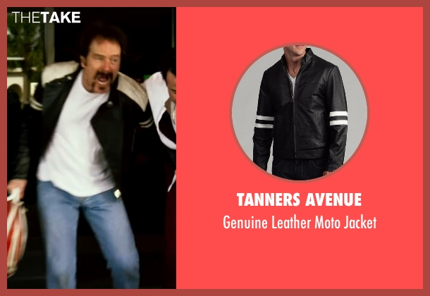 Tanners Avenue black jacket from The Infiltrator seen with Bryan Cranston (Robert Mazur)