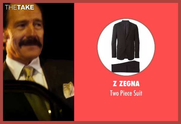 Z Zegna black suit from The Infiltrator seen with Bryan Cranston (Robert Mazur)