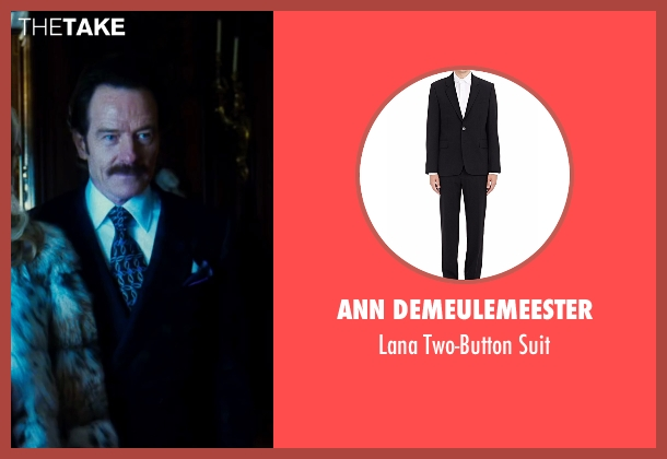 Ann Demeulemeester black suit from The Infiltrator seen with Bryan Cranston (Robert Mazur)