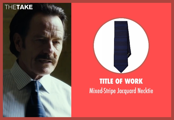 Title Of Work blue necktie from The Infiltrator seen with Bryan Cranston (Robert Mazur)