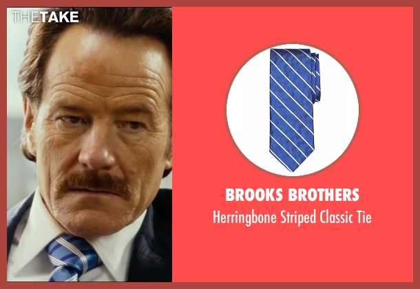 Brooks Brothers blue tie from The Infiltrator seen with Bryan Cranston (Robert Mazur)
