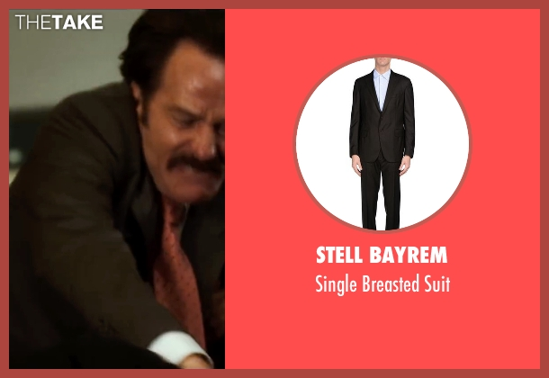 Stell Bayrem brown suit from The Infiltrator seen with Bryan Cranston (Robert Mazur)