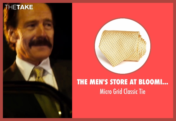The Men's Store At Bloomingdale's yellow tie from The Infiltrator seen with Bryan Cranston (Robert Mazur)