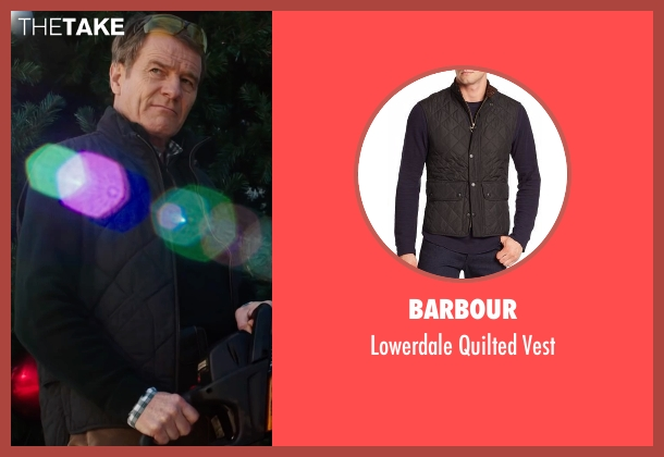 Barbour black vest from Why Him? seen with Bryan Cranston (Ned)