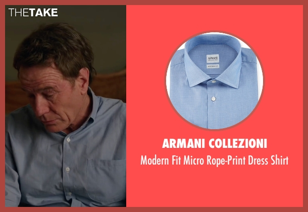 Armani Collezioni blue shirt from Why Him? seen with Bryan Cranston (Ned)