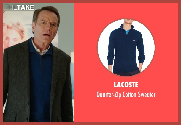 Lacoste blue sweater from Why Him? seen with Bryan Cranston (Ned)
