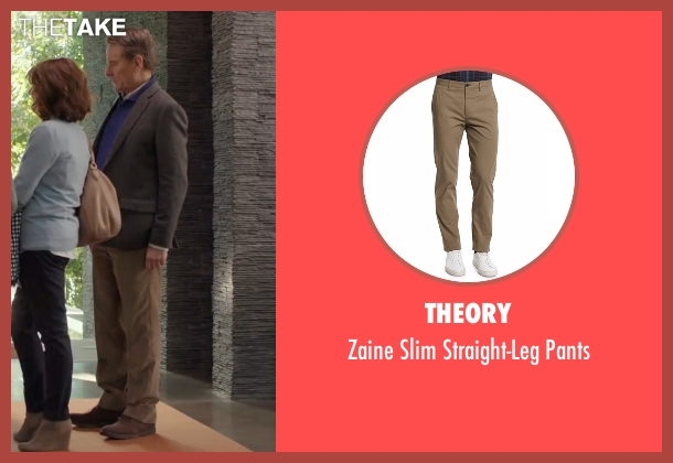 Theory brown pants from Why Him? seen with Bryan Cranston (Ned)
