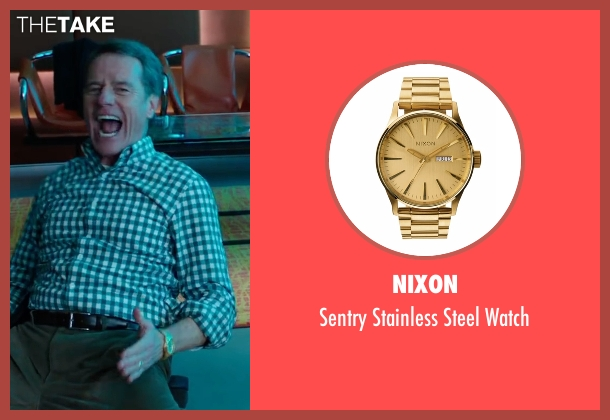Nixon  gold watch from Why Him? seen with Bryan Cranston (Ned)