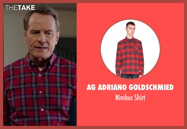AG Adriano Goldschmied red shirt from Why Him? seen with Bryan Cranston (Ned)