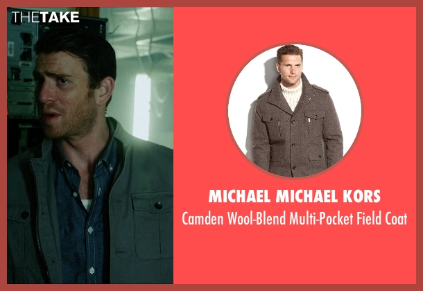 Michael Michael Kors gray coat from Vice seen with Bryan Greenberg (Evan)
