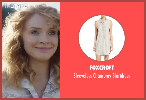 Foxcroft gray shirtdress from Gold seen with Bryce Dallas Howard (Kay)
