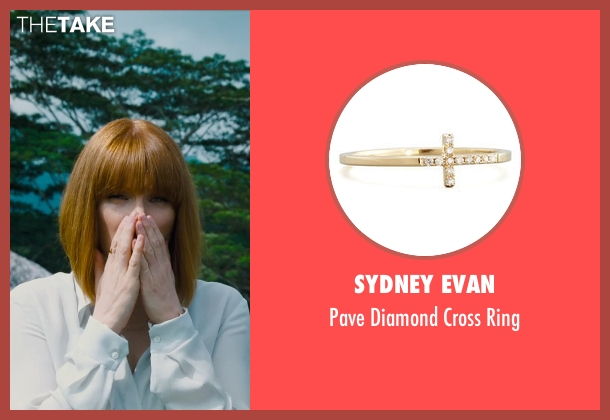 Sydney Evan gold ring from Jurassic World seen with Bryce Dallas Howard (Claire Dearing)