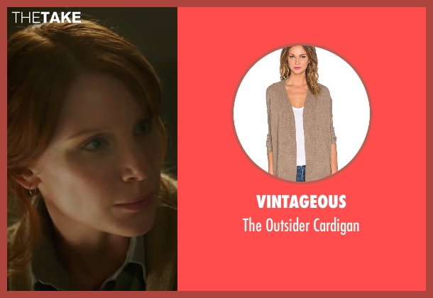 Vintageous brown cardigan from Pete's Dragon seen with Bryce Dallas Howard (Grace)