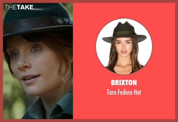 Brixton green hat from Pete's Dragon seen with Bryce Dallas Howard (Grace)