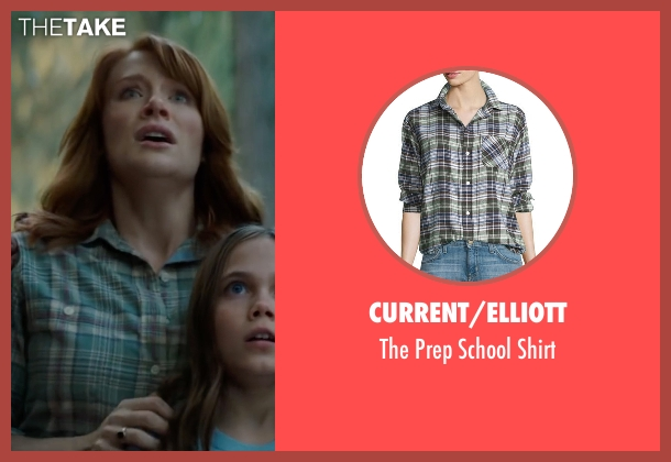 Current/Elliott green shirt from Pete's Dragon seen with Bryce Dallas Howard (Grace)