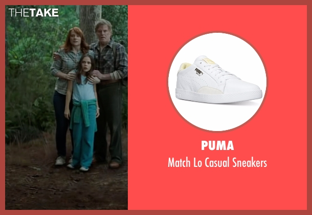 Puma white sneakers from Pete's Dragon seen with Bryce Dallas Howard (Grace)