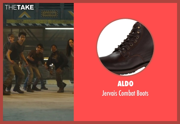 Aldo brown boots from Maze Runner: The Scorch Trials seen with Bryce Romero (Glader)