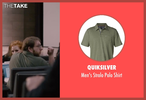 Quiksilver green shirt from The Disappearance of Eleanor Rigby seen with Bryon Krueger (NYU Student)