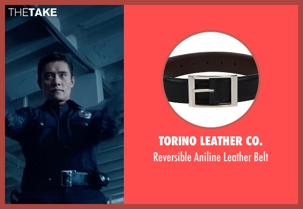 Torino Leather Co. black belt from Terminator: Genisys seen with Byung-hun Lee (T-1000)