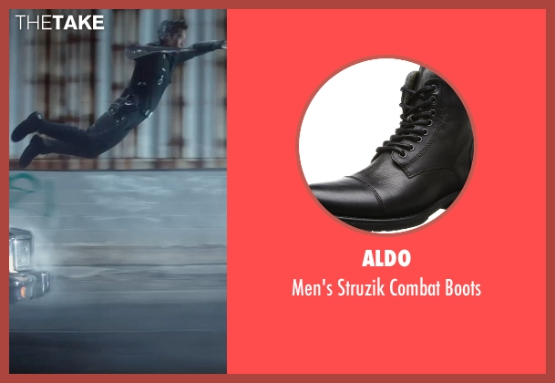 Aldo black boots from Terminator: Genisys seen with Byung-hun Lee (T-1000)