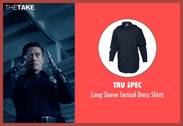 Tru Spec blue shirts from Terminator: Genisys seen with Byung-hun Lee (T-1000)