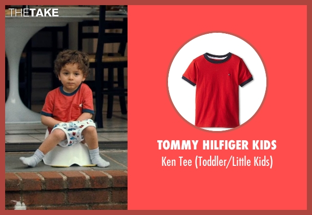 TOMMY HILFIGER KIDS red tee from This Is Where I Leave You seen with Cade Lappin (Cole Foxman)