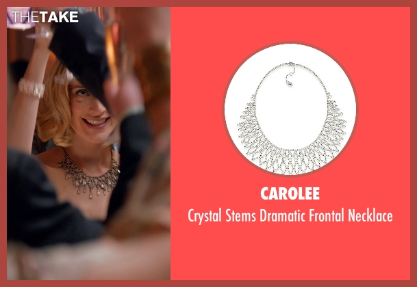Carolee silver necklace from Adult Beginners seen with Caitlin FitzGerald (Kat)
