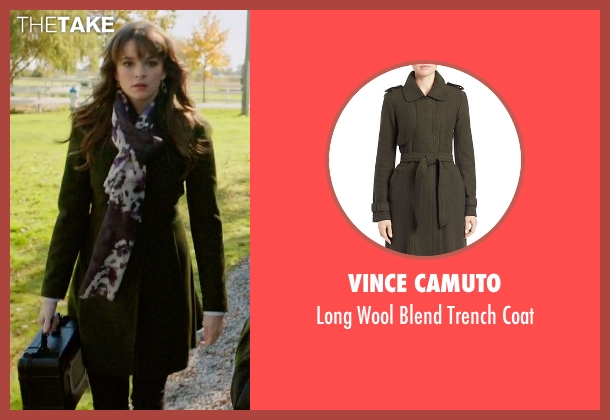 Vince Camuto green coat from Arrow seen with Caitlin Snow / Killer Frost (Danielle Panabaker)