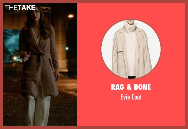 Rag & Bone beige coat from The Flash seen with Caitlin Snow / Killer Frost (Danielle Panabaker)
