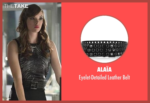 Alaïa black belt from The Flash seen with Caitlin Snow / Killer Frost (Danielle Panabaker)