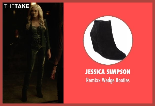 Jessica Simpson black booties from The Flash seen with Caitlin Snow / Killer Frost (Danielle Panabaker)