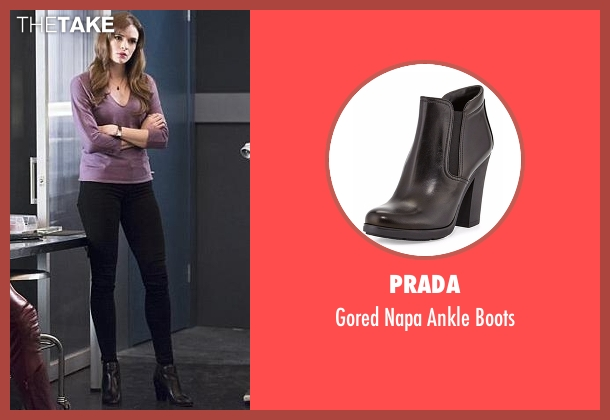 Prada black boots from The Flash seen with Caitlin Snow / Killer Frost (Danielle Panabaker)