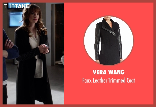 Vera Wang black coat from The Flash seen with Caitlin Snow / Killer Frost (Danielle Panabaker)