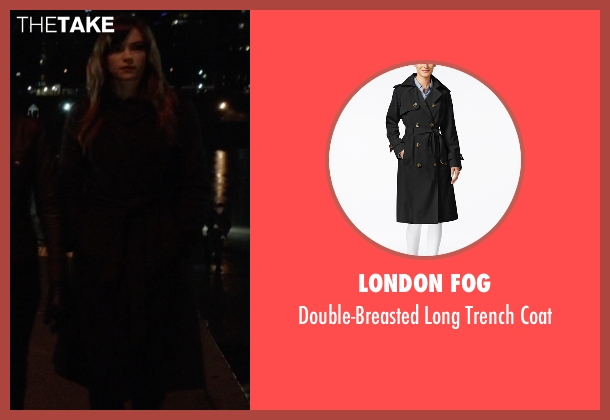 London Fog black coat from The Flash seen with Caitlin Snow / Killer Frost (Danielle Panabaker)